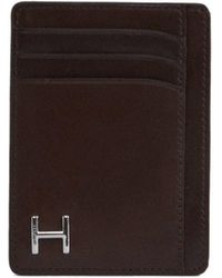 Hackett Leather H Vertical Card - Brown