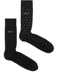 BOSS by Hugo Boss Black Cotton-blend Socks Gift Set