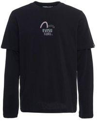 Evisu - Multi-logo 2-in-1 Long Sleeve T-shirt - Lyst