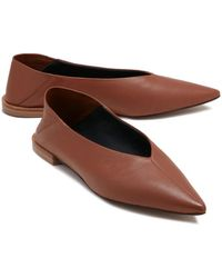 Jigsaw Lois Soft Leather Flat - Brown