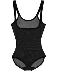 Wolford - Black Tulle Control Body - Lyst