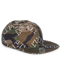 9a1d4c0c401 Valentino Green Psychedelic Camouflage Cap in Green for Men - Lyst