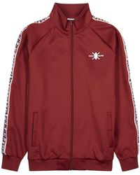 Daily Paper Tapevest Burgundy Stretch-jersey Track Jacket - Red