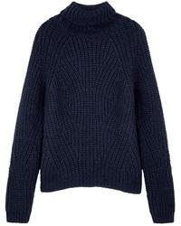 Birgitte Herskind Henny Navy Chunky-knit Sweater - Blue