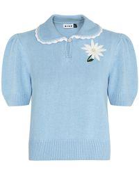 RIXO London Annalise Blue Knitted Sweater