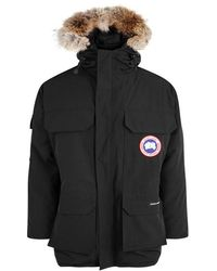 Canada Goose - Expedition Black Fur-trimmed Twill Parka - Lyst
