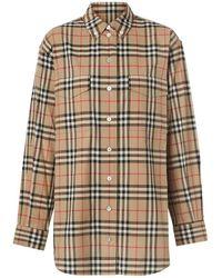 Burberry Button-down Collar Vintage Check Oversized Shirt - Multicolour