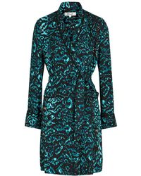 Diane von Furstenberg Valeria Printed Belted Jacket - Green