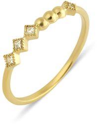 GFG Jewellery by Nilufer Lara Princess Ring - Metallic