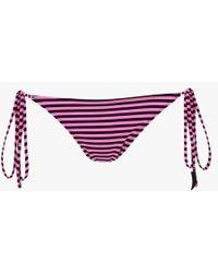 Les Girls, Les Boys - Stripe Tie Side Bikini Briefs - Lyst