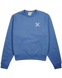KENZO Logo Cotton-blend Sweatshirt - Blue