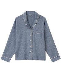 Jigsaw Sara Chevron Pyjamas Cotton - Blue