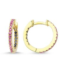 GFG Jewellery by Nilufer Claire Sapphire Huggie Hoops - Metallic