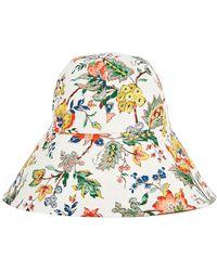 Erdem Vacation Printed Cotton-poplin Bucket Hat - White