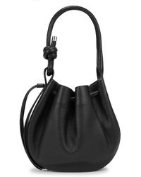 BEHNO Ina Black Leather Shoulder Bag