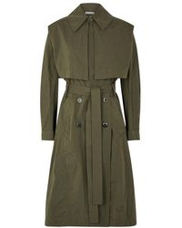 Vince - Army Green Oversized Trench Coat - Lyst