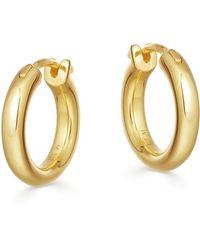 Missoma Mini Tunnel 18kt Gold Vermeil Hoop Earrings - Metallic