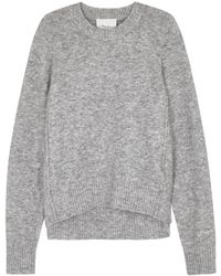 3.1 Phillip Lim - Grey Mélange Knitted Jumper - Lyst