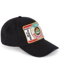 a499a3b86 Black Appliquéd Twill Cap