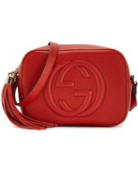 Gucci Soho Small Leather Cross-body Bag - Red