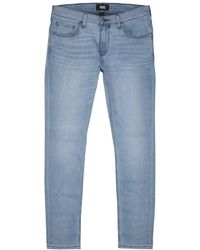 PAIGE - Croft Transcend Light Blue Skinny Jeans - Lyst