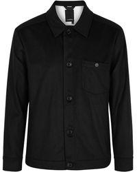 J.Lindeberg Dolf Black Cashmere Shirt