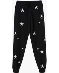 Chinti & Parker Black Star Cashmere Track Trousers