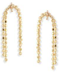 POPPY FINCH Yg Petite Shimmer Bead Earrings (pair) - Metallic