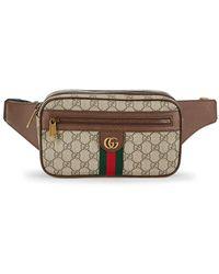 Gucci Ophidia GG Supreme Canvas Belt Bag - Natural