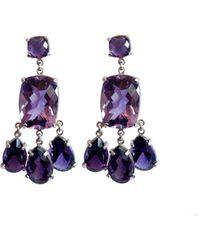 Isabel Englebert Queen Amathyst Earrings - Purple