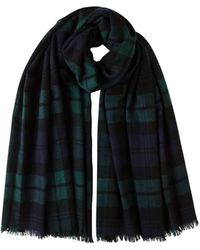 Johnstons Tartan Tissue Cashmere Stole - Black