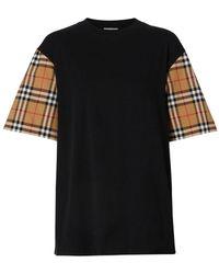 Burberry Vintage Check T-shirt - Black