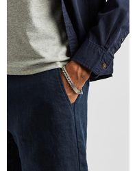 Tateossian Large Brushed Silver-tone Chain Bracelet - Metallic