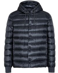 Herno - Navy Quilted Jacket - Lyst