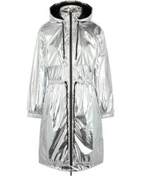 Paco Rabanne Silver Hooded Shell Parka - Metallic