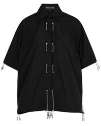 Angel Chen Black Shell Shirt