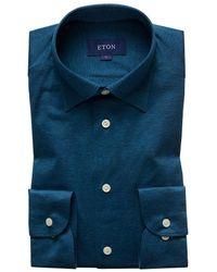 Eton of Sweden - Petrol Jersey Shirt - Slim Jersey Fit - Lyst