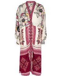Free People C'est Moi Floral-print Kimono - White