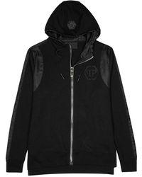 Philipp Plein | Both Black Hooded Jersey Sweatshirt | Lyst