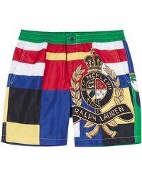 Polo Ralph Lauren - Flag-print Swim Shorts - Lyst