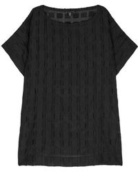 Eileen Fisher - Black Oversized Fil Coupé Top - Lyst