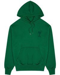 AMI Green Hooded Cotton Sweatshirt