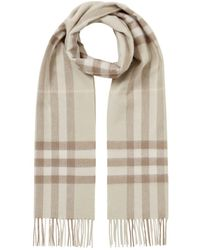 Burberry The Classic Check Cashmere Scarf - Green