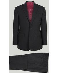 Harvie & Hudson - Grey Fine Worsted Wool Suit - Lyst