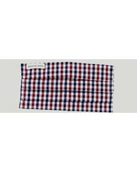 Harvie & Hudson Navy And Red Check Cotton Face Mask - Blue