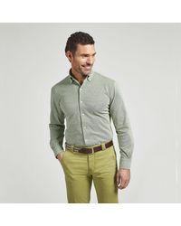 Harvie & Hudson Green Cotton Casual Shirt