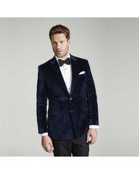 Harvie & Hudson - Navy Velvet Jacket - Lyst