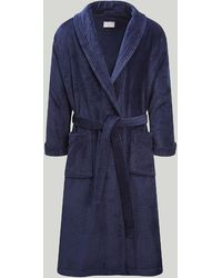 Harvie & Hudson Navy Worsted Wool Gown - Blue