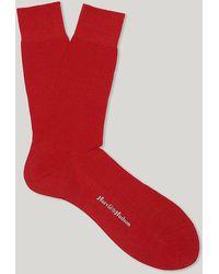 Harvie & Hudson - Red Short Merino Wool Socks - Lyst