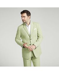 Harvie & Hudson Green Casual Cotton Jacket